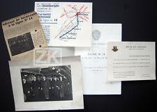 METRO LIGNE N°14 Plaquette + Plans + Carton d'invit + 1 Phot BIENVENUE 1937