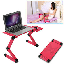 Foldable Aluminum Laptop Notebook Laptop Stand Desk Table Mouse Tray Red US