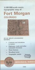 USGS Topographic Map  FORT MORGAN Colorado 1980 - stamped - 100K -
