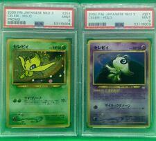 PSA 9 MINT Lot 2 Celebi Neo Japanese Pokemon Card OTHER GRADED CARDS LISTED