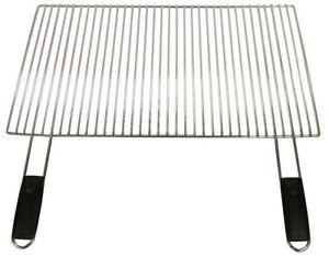 griglia per barbecue cm 60x40 graticola in acciaio x fornacella brace e bbq