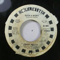 Soul Promo 45 Lenny Welch - Such A Night / Such A Night On Roulette
