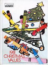 HARDCOVER MONTGOMERY WARD  WISH BOOK  1981   CHRISTMAS CATALOG