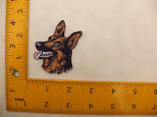 "EMBROIDERED Alsatian Head #3 Iron On / Sew On Patch / Badge approx 2"" Square"