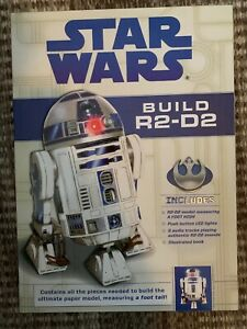 NEW Star Wars Build R2-D2 Paper Craft Model Kit with Authentic Sound Module LED