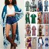 Women Printed Blouse Loose Chiffon Kimono Cardigan Sunscreen Clothing Holiday