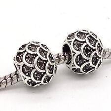 5pcs Tibetan silver European Charm Spacer beads fit Necklace Bracelet Chain #73