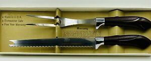 Vintage Quikut Gourmet Carving Set Knife Fork Chef's Choice Meat Slicing