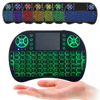 Keypad Air Mouse 2.4GHz Wireless Keyboard 7 Colors Backlight For Android TV Box