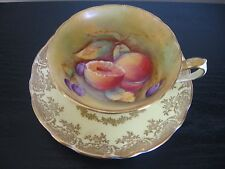 PARAGON SIGNED J MARTIN FRUIT TEACUP AND SAUCER