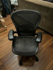 New Listinggenuine Herman Miller Aeron Office Chair Classic Carbon Black Size B Posture Fit
