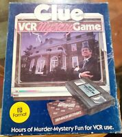 VINTAGE PARKER BROTHERS CLUE VHS MYSTERY GAME (Rare Beta FORMAT)