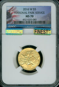 2016-W NATIONAL PARKS $5 GOLD NGC MS-70 MAC FINEST MAC SPOTLESS .