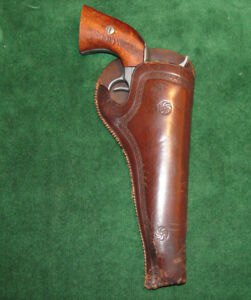 Antique Western Expansion Style California Slim Jim Holster - Fits Colt 45 SA