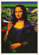 POSTER : MARIJUANA THEMED : NAUGHTY MONA LISA - FREE SHIPPING !  #FPO175  RW10 L