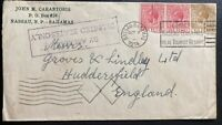 1934 Nassau Bahamas Commercial Cover To Huddersfield England Airmail USA Only