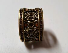 Heidi Daus Band Ring Sz 10 Mosaic Masterpiece Pave Crystals Eternity    7015