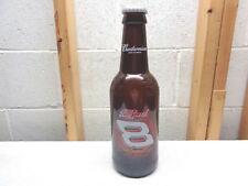 """Budweiser Large 15"""" Glass Beer Bottle~Dale Earnhardt Jr. #8"""