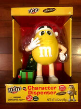 M&M's, 2016,Yellow Character, Musical, Christmas Dispenser, New!