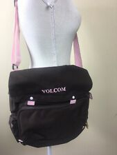 Volcom Student Pack Messenger Book Bag Laptop With Adjustable Strap Pink & Brown