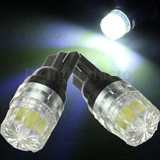 2x 501 W5W T10 HIGH POWER XENON PURE WHITE SIDELIGHT WEDGE LED BULBS