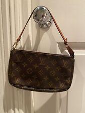Auth Louis Vuitton Pochette Accessoires Clutch Bag Monogram