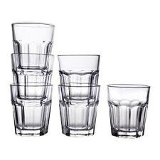 """IKEA 6-er Set Gläser """"POKAL"""" für kalte und heiße Getränke - 270ml - 10 cm hoch"""