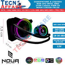 Dissipatore Liquido 1 Ventola PWM RGB Rainbow 5V 3PIN AM4 1151 1200 1366 Noua