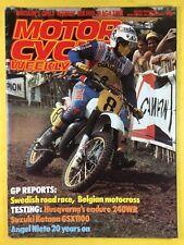 MOTOR CYCLE WEEKLY - 13th August 1983 - Suzuki Katana GSX1100 - Magazine