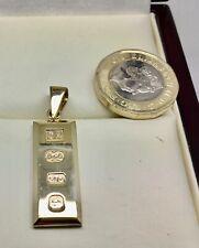 9ct oro sólido Lingote P