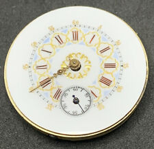 Swiss Cylinder Pocket Watch Movement 0s Fancy Good Leaf Dial Repair Parts F2512