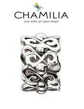 Genuine CHAMILIA 925 sterling silver HEART TO HEART charm bead, love, romance