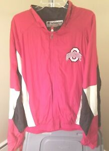 Ohio State Buckeyes NCAA Champion Vintage Red & White School Logo Large Jacket