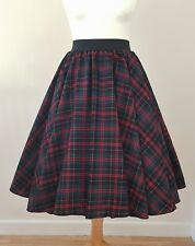 1950s Circle Skirt Red Green Tartan Check All Sizes - Rockabilly PinUp Christmas