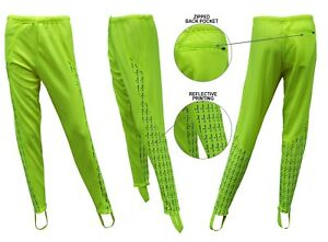 ACCLAIM Athens Ladies Cycling Non Padded Stirrup Tie Up Leggings Reflective