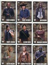 Walking Dead Season 5 Complete Profiles Chase Card Set C1-18