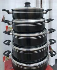 5pcs Large Non-Stick ceramic  Cooking Pots