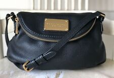 MARC BY MARC JACOBS Mini Q Natasha BLACK Pebbled Leather Crossbody Bag New Style
