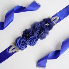 Elegant Bands Wedding Belt Flowers Pearls Beaded Rhinestone Wedding Dress Belt