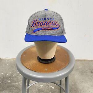 Vintage Denver Broncos 6 Panel Snapback Hat Starter Cap