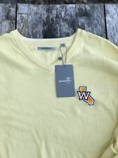 Golden State Warriors Golf Sweater - Ashworth Golf Sweater XXL Size Yellow - NWT