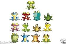 Wall sticker 13x Funny Frog green Nursery daycare ROOM BOY GIRL - Grenouille