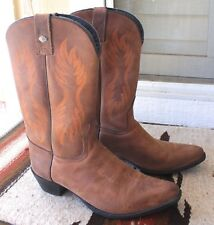 Harley Davidson Womens  US Size 6  EU 37 Brown Leather Cowboy Boots