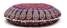 Indian cotone Rotondo Mandala Cuscino Piano Copricuscino Coperchio Puf Gettare