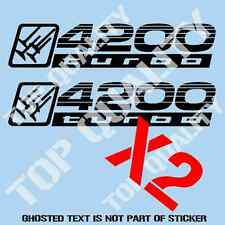 4200 TURBO REPLACEMENT DECAL STICKER TO SUIT TOYOTA LANDCRUISER 4X4 STICKERS