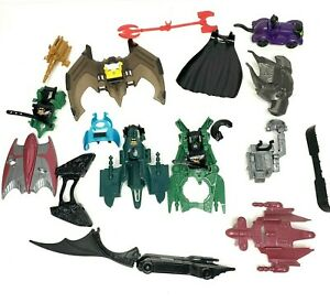 Lot Of Kenner Batman 1995 1998 Figure And Accessories Batmobile Capes Backpacks