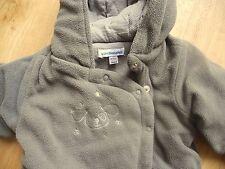 VERBAUDET Baby Wintersack mit Kapuze Overall braun 45/60 cm Fleece Maxi Cosi