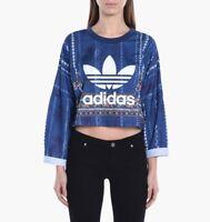 adidas x FARM COMPANY Cirandeira Crop Sweater Sizes 8, 14 RRP £50 BNWT AY6896