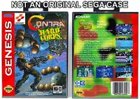 Contra: Hard Corps - Sega Genesis Custom Case *NO GAME*