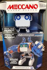 Meccano Micronoid Building Programmable Blue Basher Robot 139 Pcs New